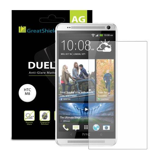 $$  GreatShield DUEL Mark II Anti-Glare (Matte) Screen Protector for HTC One M8 (2014 Release) - LIFETIME WARRANTY (Retail Packaging) - 3 pack