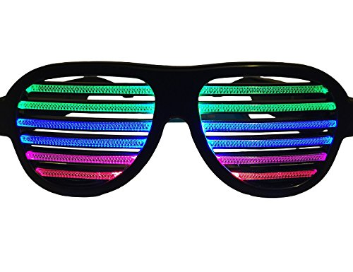 WDCS LED musical shades Sound & Music Active LED Party Glasses with USB Charger. Best for Cloubbing, EDM, Rave, Disco, Dubstep Party
