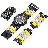 LEGO Kids' 8020127 Ninjago Jungle Cole Plastic Watch with Link Bracelet and Figurine