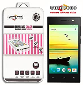 CareFone Tempered Glass for Lava A76 [Cutout for Proximity Sensor], 0.3mm thi...
