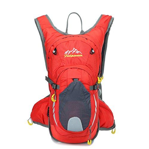 sac de vélo professionnel / sac d'escalade en plein air / sac de sport / Backpack Voyage-rouge 15L