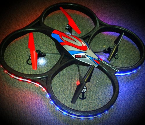 WL V262 24ghz Big 4 Axis Quadcopter extra Battery LED night