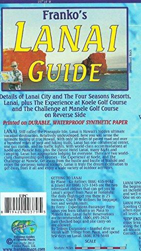 Lanai Hawaii Adventure Guide Franko Maps Waterproof Map