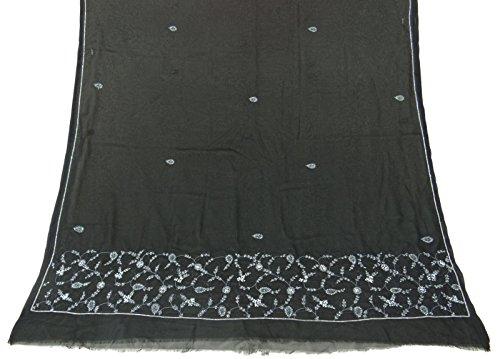 jahrgang-dupatta-lange-stola-georgette-schwarze-schals-benutzte-gestickte-verpackung-hijab