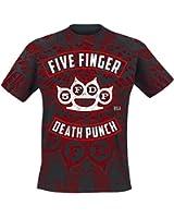 Five Finger Death Punch Eagle Burst T-Shirt schwarz/rot