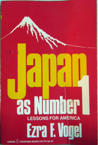 Japan As Number One: Lessons for America