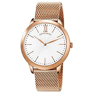 Pierre Cardin pc105311f10 42mm Gold Plated Stainless Steel Case Rose Gold Gold Plated Stainless Steel Mineral Men's Watch