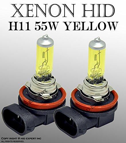 One Pair H11 Amber Yellow 55W JDM Car Fog / HIGH BEAM Xenon Halogen Light Bulbs (Rsx Fog Light Bulb compare prices)