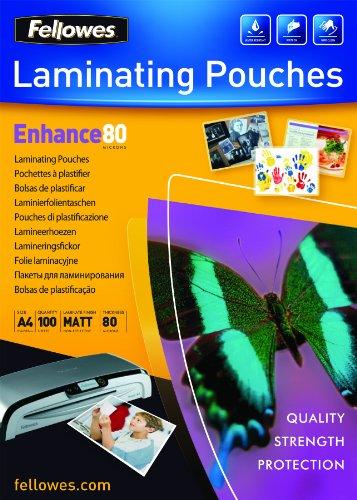 fellowes-5452101-matte-laminierfolien-enhance-80-mikron-din-a4-100er-pack