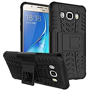 ACASE Tough Hybrid Armor Back Cover Case with Kickstand for Samsung Galaxy On5 Pro -(Black)