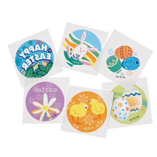 Lot Of 144 Assorted Easter Theme Temporary Tattoos