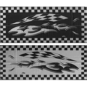 Ming's Mark HC1 8 X 20 Black Checker Flag Mat
