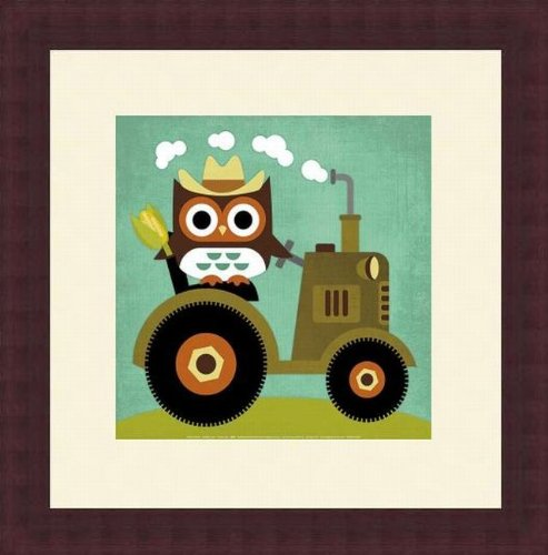 Barewalls Wall Decor by Nancy Lee, Owl on Tractor