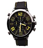iSweven isweven Fancy Racing series big dial colored digit waterproof Mens'watch Analogue Black Unisex Wrist Watch W1025cc