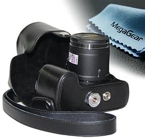 "MegaGear ""Ever Ready"" Protective Black Leather Camera Case, Bag for Nikon COOLPIX P520 18.1 MP Digital Camera"