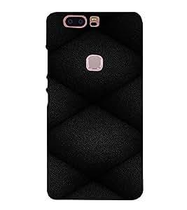 PrintVisa Leather Quilt Pattern 3D Hard Polycarbonate Designer Back Case Cover for HUAWEI HONOR V8