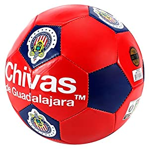 Amazon.com : Chivas de Guadalajara Soccer Ball - Red - Size 5 : Sports