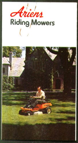 Ariens Riding Mowers Sales Folder 1974
