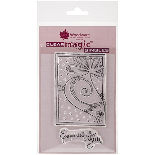 "Woodware Craft Collection Doodle Bird Stamps Sheet, 3.5"" by 5.5"", Clear"