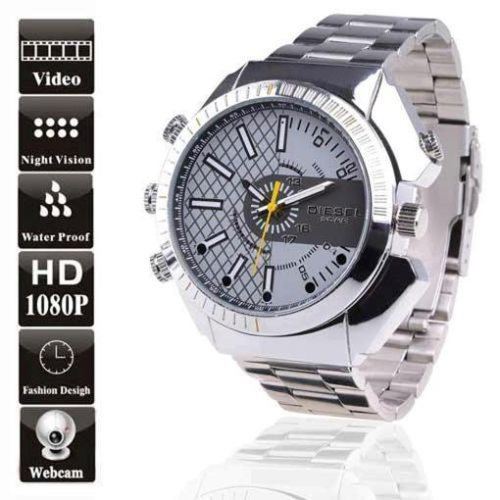 HD Water-Resistant Spy Watch