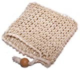 100% SISAL soap bag natural EXFOLIATING SKIN, body scrub 10 x 10 cm (4