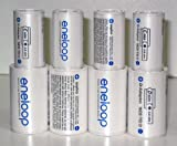 Sanyo Eneloop Spacer Pack: 4 Pack of C-size and 4 Pack of D-size Adapters [Hassle Free Packaging]