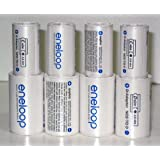 Sanyo Eneloop Spacer Pack: 4 Pack of C-size and 4 Pack of D-size Adapters [Hassle Free Packaging] ~ Eneloop