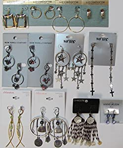Bundle - 12 Pairs of Name Brand Earrings Wholesale Costume Fashion Jewelry Lot