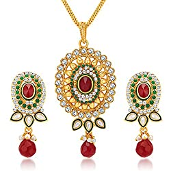 Sukkhi Dazzling Gold Plated Pendant Set for Women