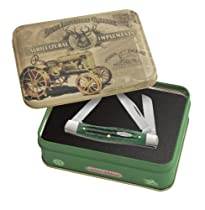 Case Cutlery 15711 Case John Deere Corn Cob Jigged Bright Green Medium Stockman, in Gift Tin Bright Green Bone