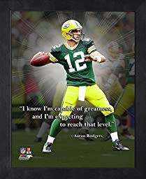 Aaron Rodgers Pro Quote - I know I\'m capable of greatness, and I\'m exp Photo by Photo File