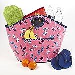 Easton Beach Bag (Pink Flip Flop Toss)