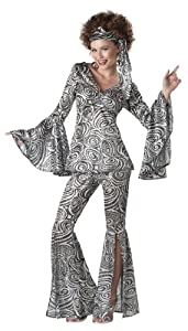 California Costumes Foxy Lady Set, Black/Silver, Large