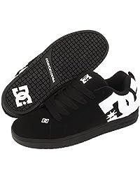 DC Shoes Men's Court Graffik Shoes Black White Carbon