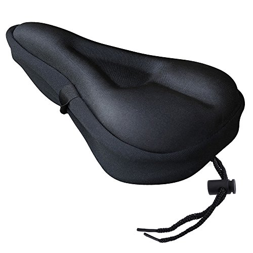 Zacro Gel Bike Seat - BS031 Extra Soft Gel Bicycle Seat - Bike Saddle Cushion with Water&Dust Resistant Cover (Black) (Most Comfortable Bicycle Seat compare prices)