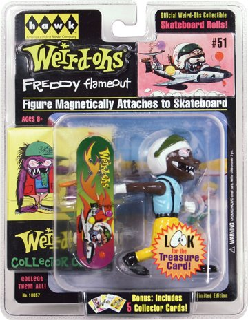 Weird-Ohs Carded Figure With 5 Collecter Cards #51 Freddy Flameout - 1