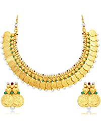 Sukkhi Finely Laxmi Coin Gold Plated Traditional Necklace Set For Women