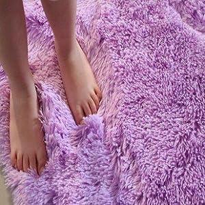Amazoncom DIAIDI Shag Area Rugs Natural Super Soft