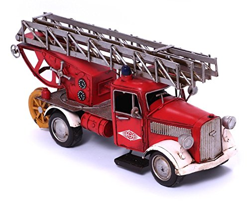 Model Car - Fire Truck Opel Blitz 1949 - Retro Tin Model