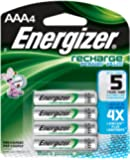 Energizer Recharge Power Plus AAA 700 mAh Rechargeable Batteries, Pre-Charged (4-pack)