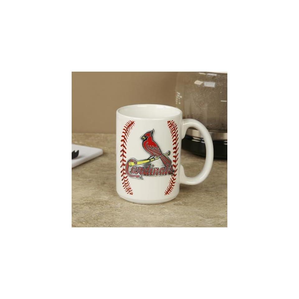 St Louis Cardinals Pewter Logo Baseball Coffee Mug