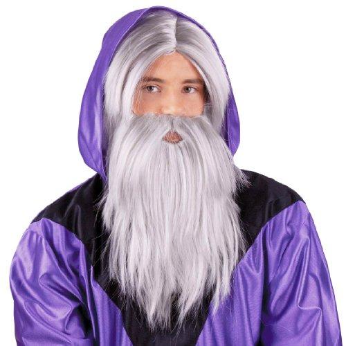 [Wizard Wig & White Beard] (Merlin Costumes)