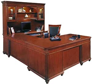 Executive U Shaped Desk With Hutch Iha324 Furniture Decor