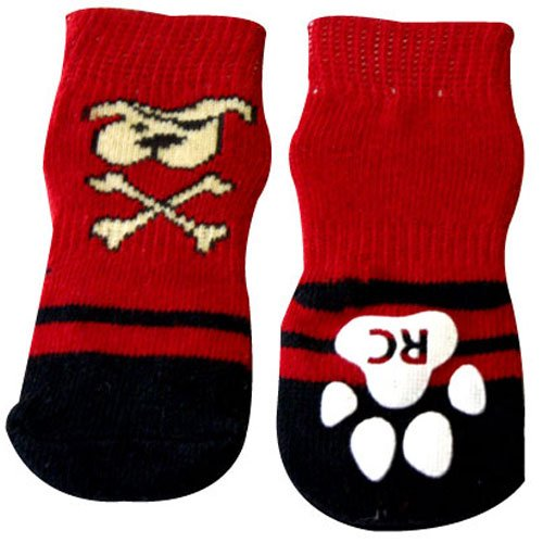 RC Pet Products Pawks Dog Socks, X-Small, Pirate Pooch