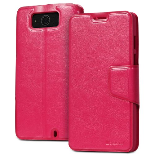 Buy  GreatShield SHIFT LX Leather Wallet Case with Card Slots for Motorala Droid Maxx / XT1080M (Pink)