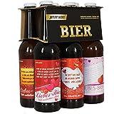 """6er Biergeschenk LIEBES-BIER für alle (frisch) Verliebten - Bierset als Geschenkidee für die leckerste Liebeserklärung der Welt- 6x """"Voll verliebtes Bier!"""" - 6x 0,33l Bier inkl. Pfand - ACHTUNG: streng limitiert"""