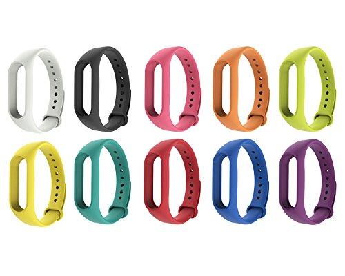 iMounTop Armband Bracelet Schnalle mit Klammer Clasp für Xiaomi Mi Band 2 OLED-Schirm-Noten-Mi Band 2 Armband Smart-Armband besseren Algorithmus Impuls-Puls-IP67 (Mi Band Version 2.0)( Hinweis: den Tracker nicht umfassen)