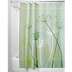 interdesign thistle fabric shower curtain 54 x 78 inch green. Black Bedroom Furniture Sets. Home Design Ideas