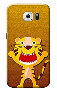 KanvasCases Printed Back Cover For Samsung Galaxy S6 + Free Earphone Cable Organizer