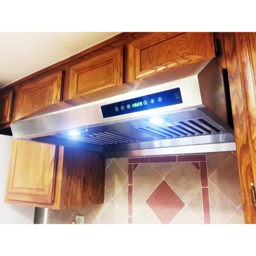 "Firebird New 30"" European Style Under Cabinet Stainless Steel Range Hood Vent W/Touch Button Control (Model No. Rs-1802)"